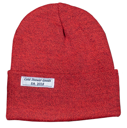 Heather Red Cuffed Beanie | Cold Shower Goods