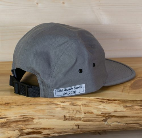 5 Panel Hat in Dark Gray | Cold Shower Goods